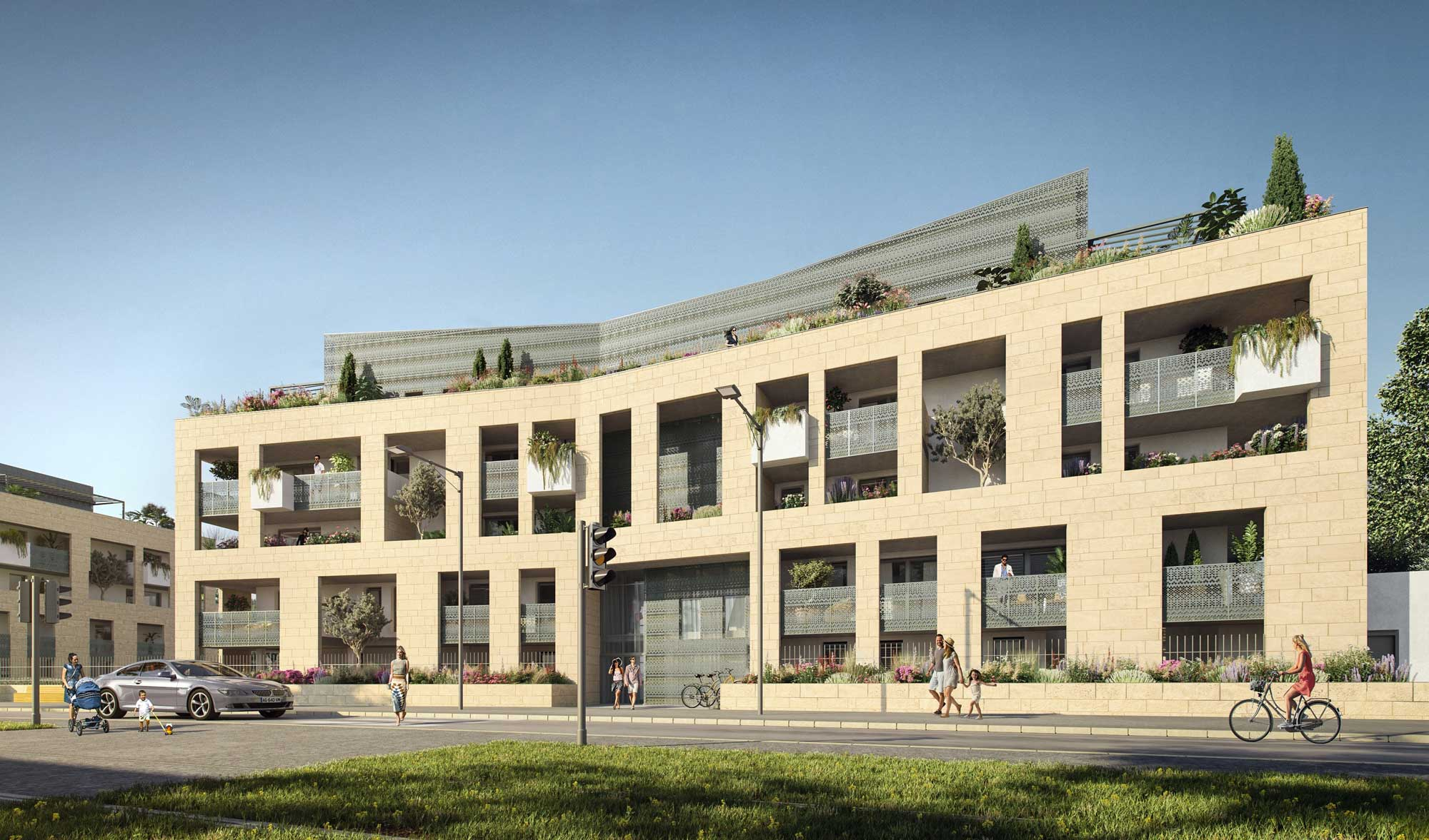 Organza Montpellier Perspective exterieure programme immobilier