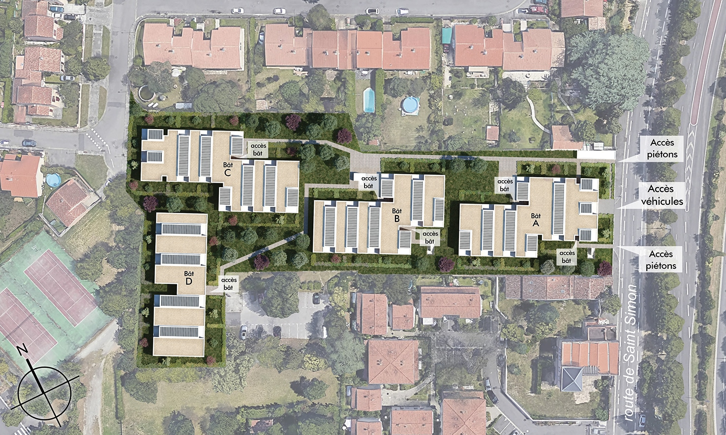 Plan masse programme immobilier Cosmo Toulouse