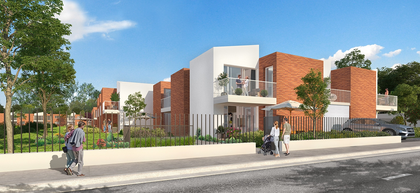 Perspective rue programme immobilier Cosmo Toulouse