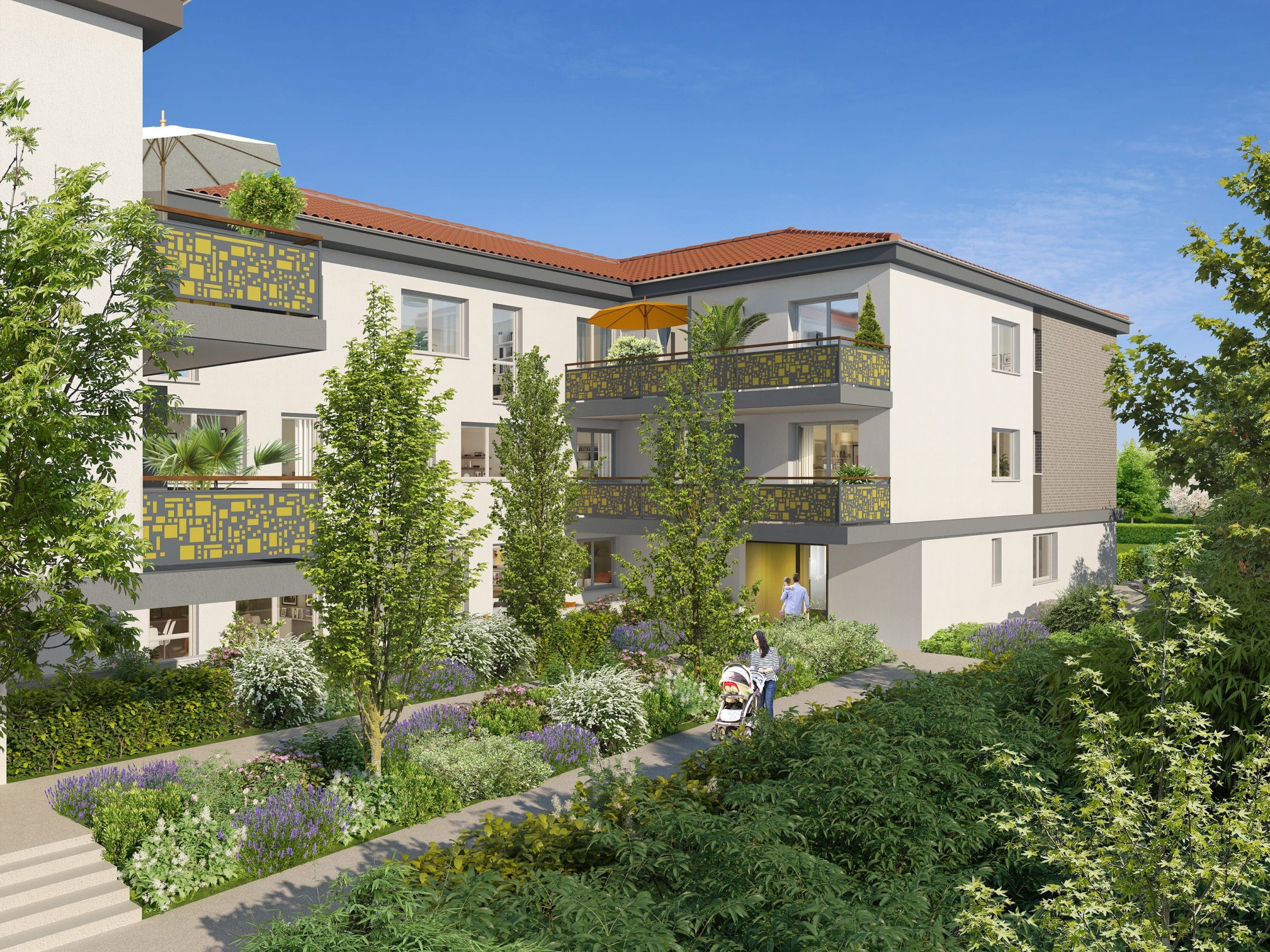 perspective exterieure programme immobilier toulouse city life