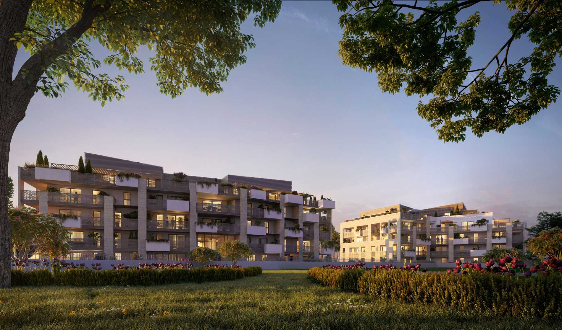 Montpellier Organza Perspective exterieure programme immobilier